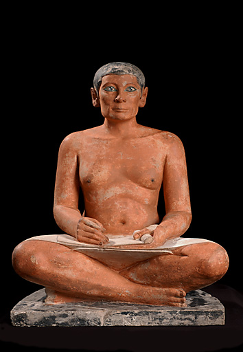 The crouching scribe