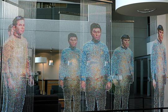 Devorah Sperber, Spock, Kirk and McCoy: Beaming-In, 2008, Microsoft Headquarters