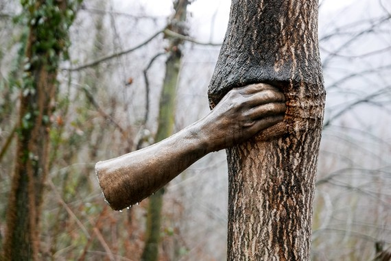 Giuseppe Penone, Maritime Alps - It Will Continue to Grow except at That Point, 1968-2003, Yorkshire Sculpture Park, UK.