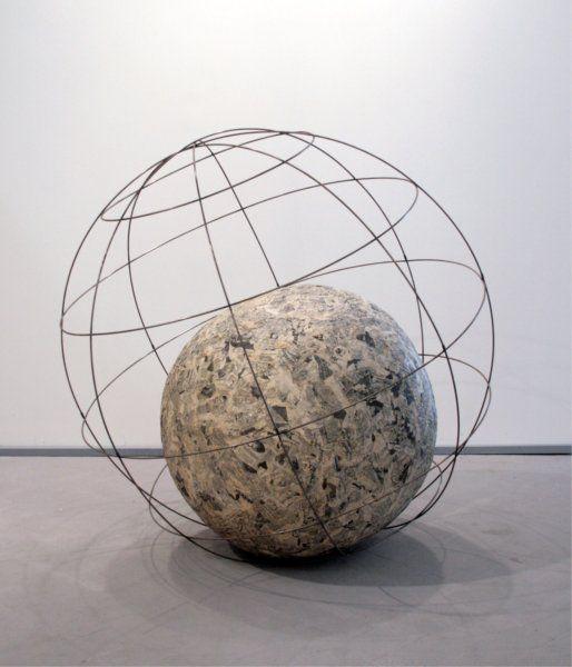 Arte Povera movement: Michelangelo Pistoletto, Mappamondo (Globe), 1966-68, Galleria Christian Stein, Milan, Italy. .