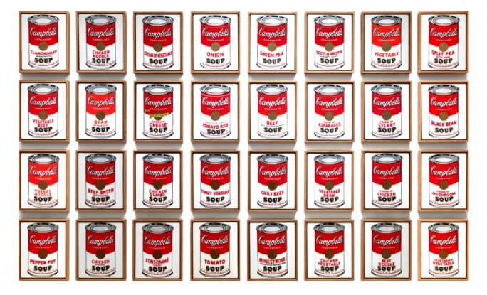 Andy Warhol, pop art, Campbell's soup cans, MoMA