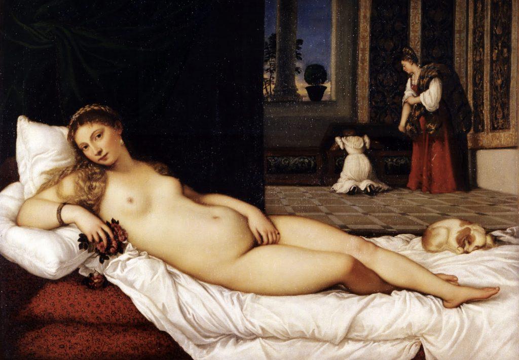 Tiziano Vecelli. Venus of Urbino. 1538, Galleria degli Uffizi, Florence, Italy.