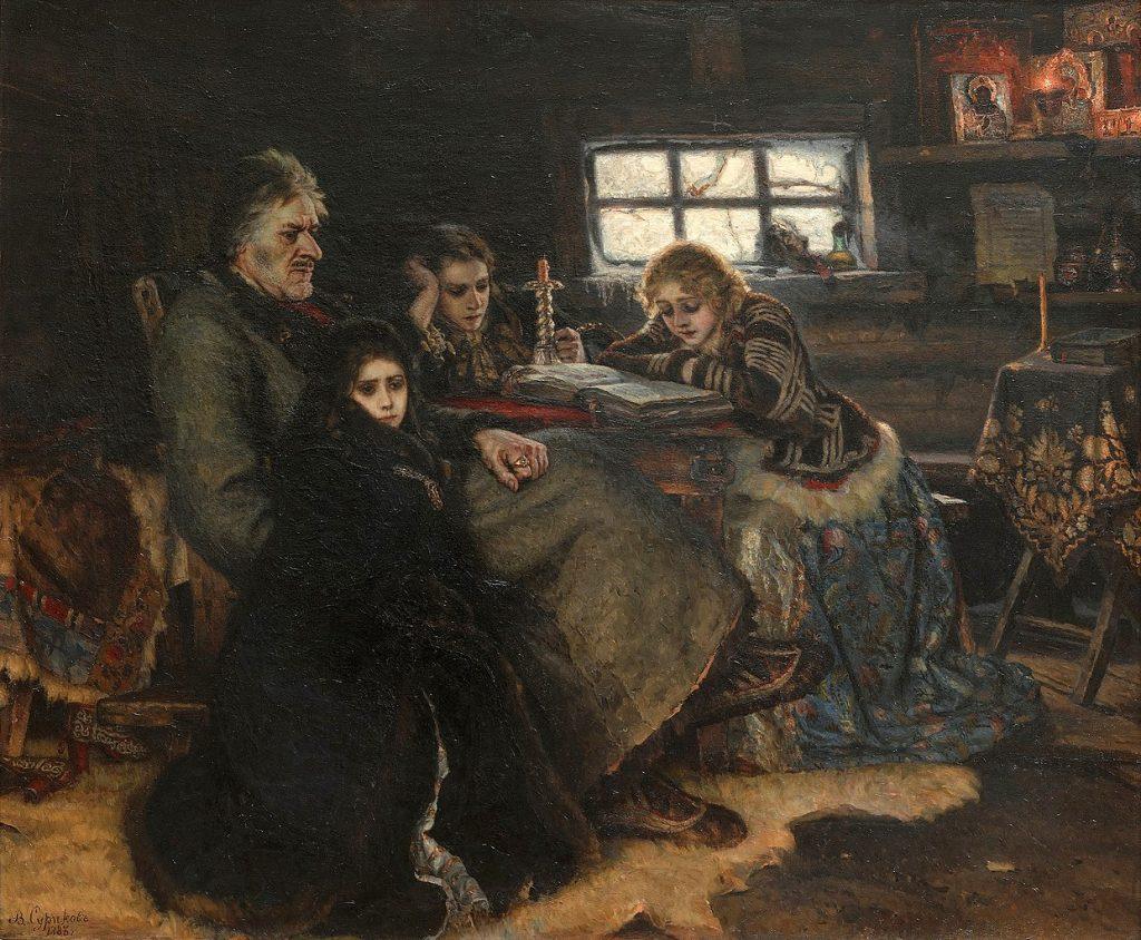 Vasily Surikov, Menshikov in Berezovo, 1888, Tretyakov Gallery, Moscow, Russia.