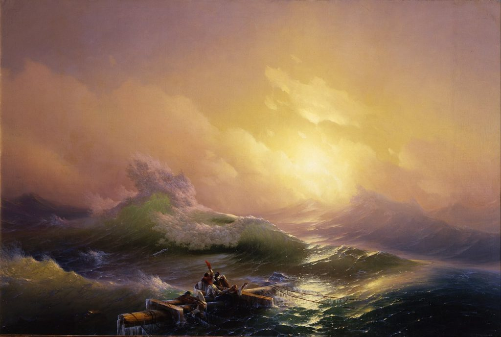 Ivan Aivazovsky, The Ninth Wave, 1850, The State Russian Museum, Saint Petersburg, Russia.