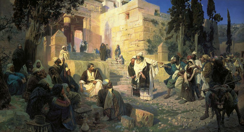 Vasily Polenov, Christ and the Adulteress (Who Is Without Sin?), 1888, The State Russian Museum, Saint Petersburg, Russia.