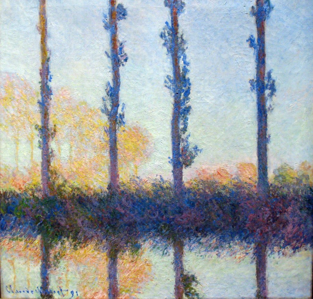 Claude Monet, The Four Trees, (Four Poplars on the Banks of the Epte River near Giverny), 1891, Metropolitan Museum of Art, New York, NY, USA.