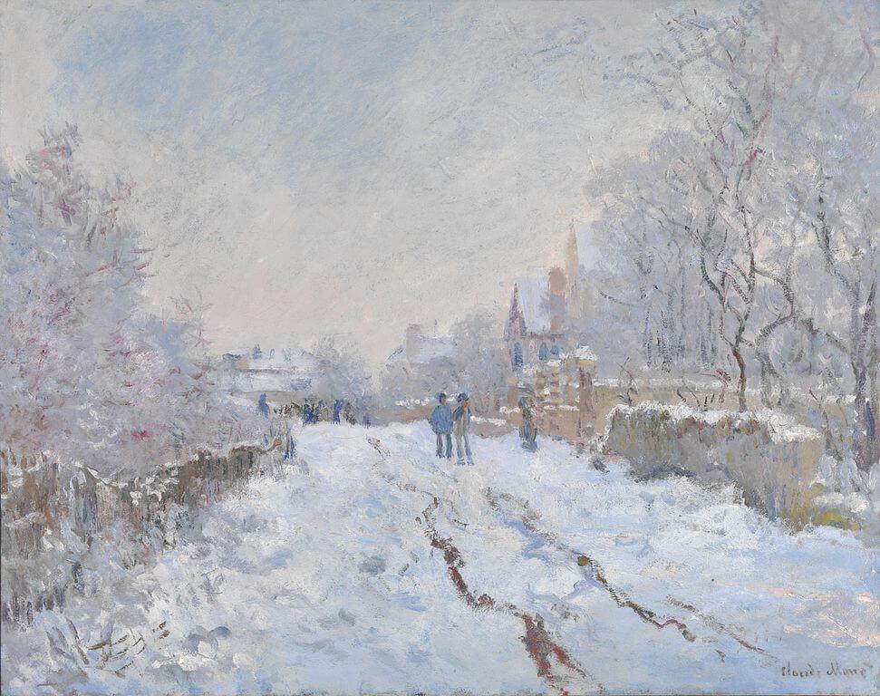 Claude Monet, Snow Scene at Argentuil