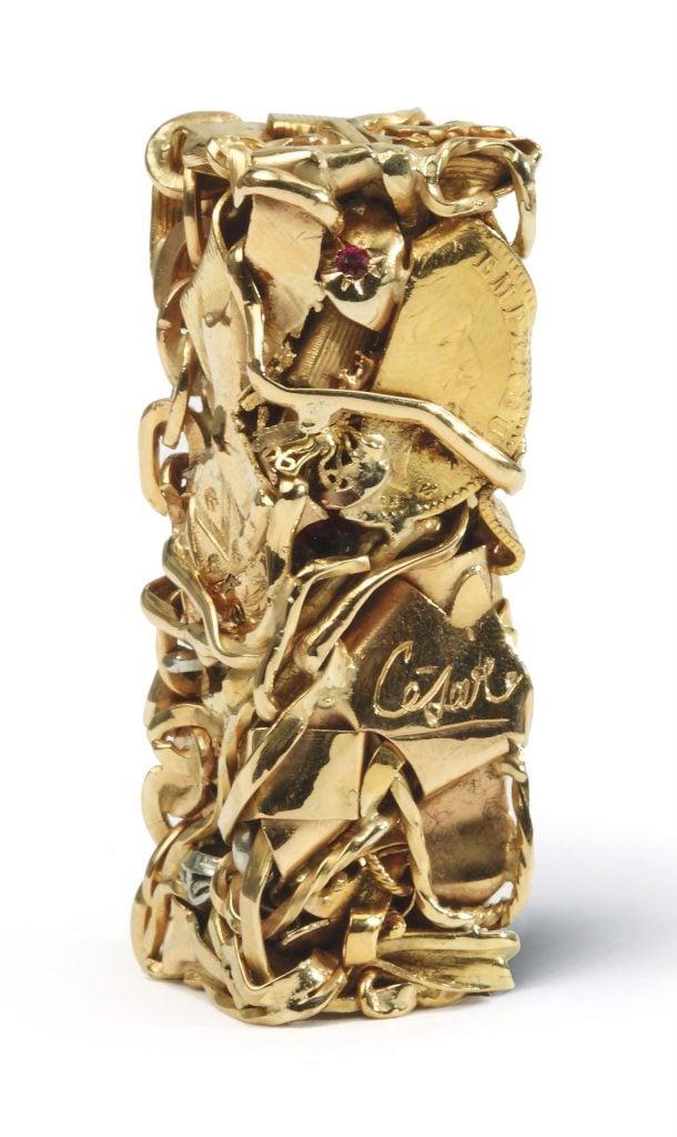 César Baldaccini, Compression de bijoux (Jewelry Compression), 1977, private collection.