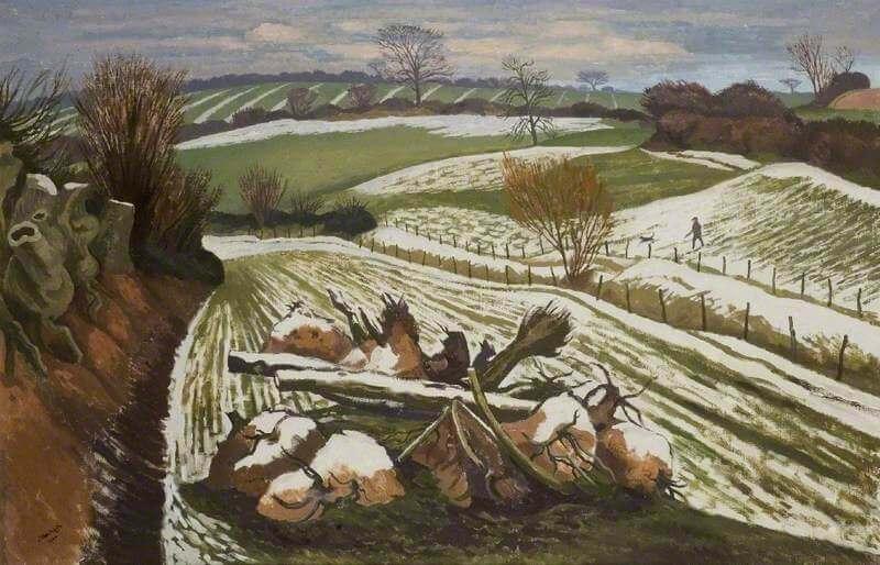 John Northcote Nash, Melting Snow at Wormingford