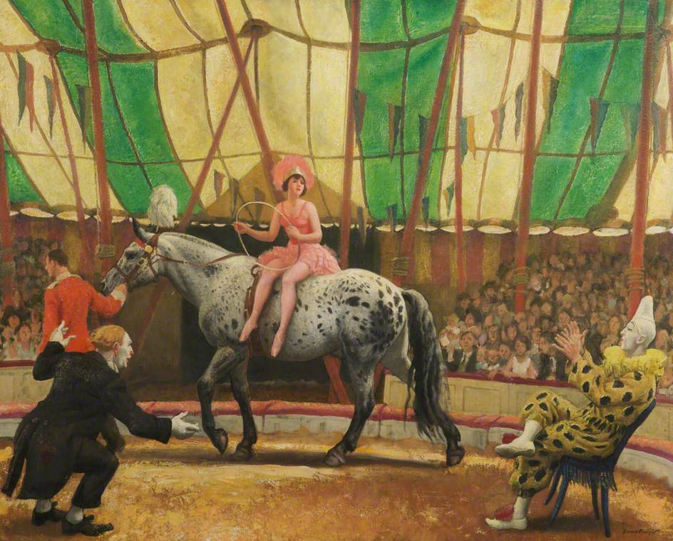 Circus of Dame Laura Knight, Dame Laura Knight, The Trick Act