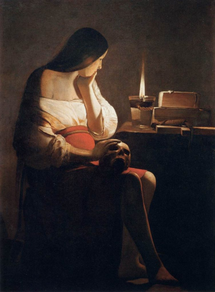 Georges de la Tour, Magdalene with the Smoking Flame, 1640, Louvre Museum, Paris.