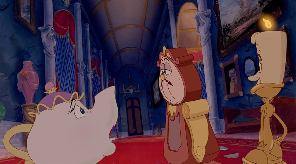 Beauty and The Beast, 1991, movie frame, Walt Disney Pictures.