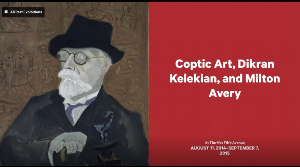 Poster of the MET exhibition Coptic Art, Dikran Kelekian, and Milton Avery, 2015