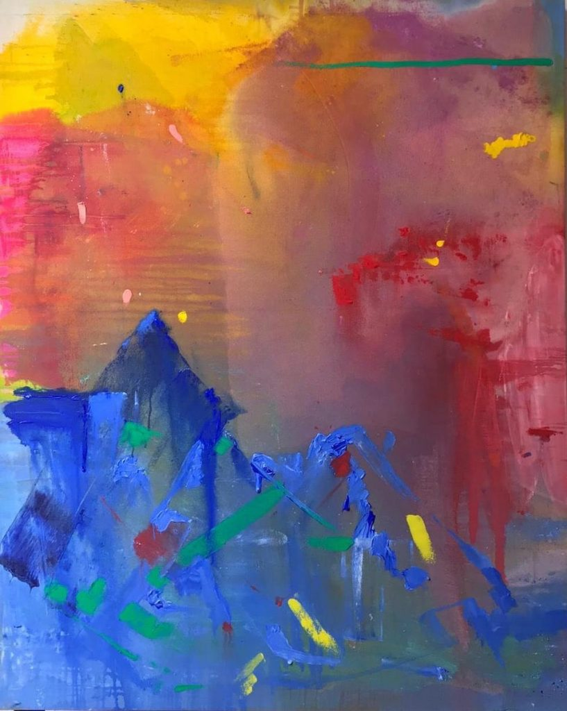 The Colour of Abstraction: Crystal Fischetti, Mystify, 2020, acrylic & oil on canvas, Grove Square Galleries
