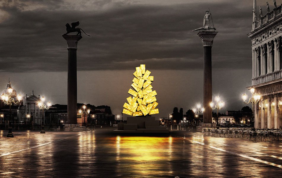 Christmas Tree Venice Fabrizio Plesse, Digital Christmas, 2020, Venice, Italy.