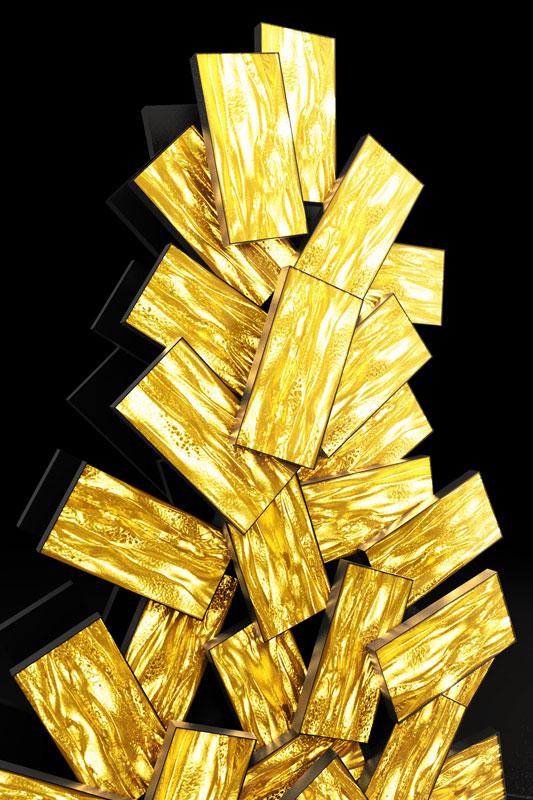 Christmas Tree Venice Fabrizio Plessi, Digital Christmas, 2020,