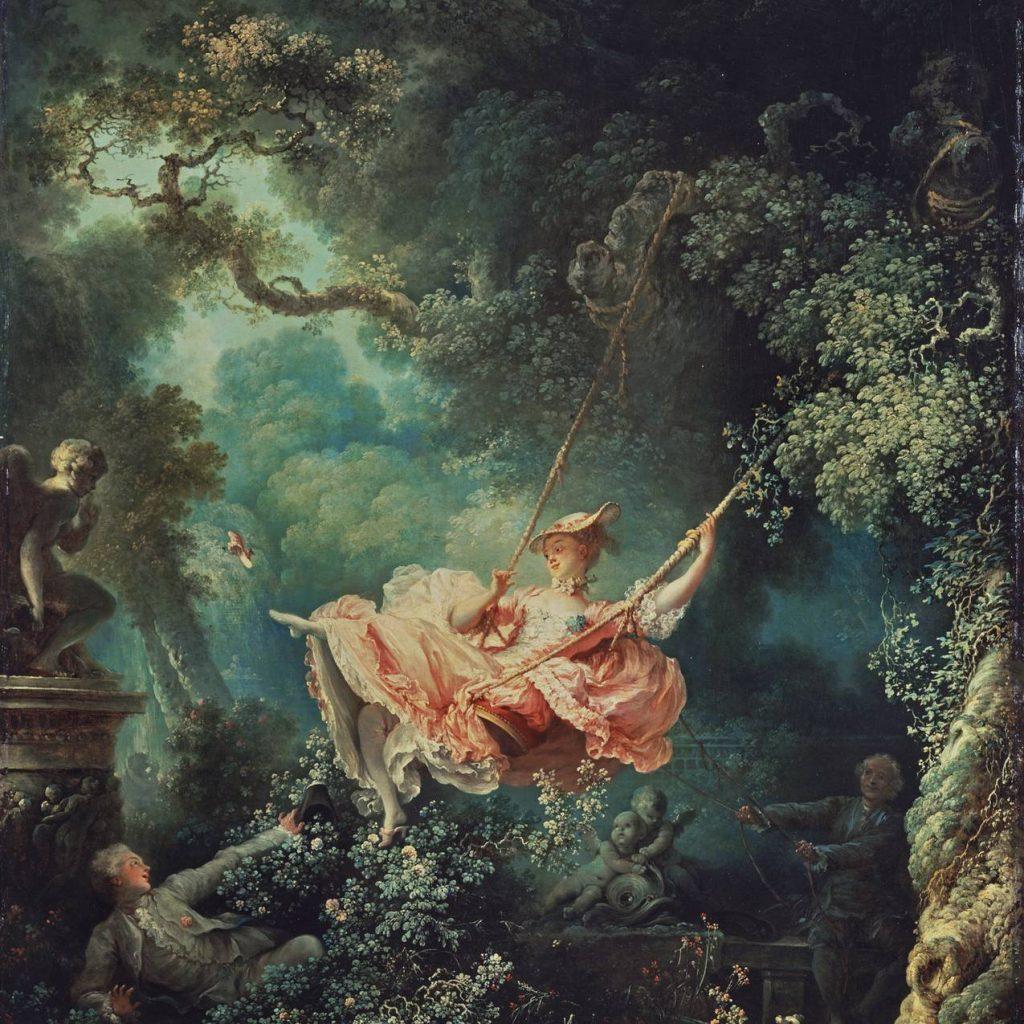 Jean-Honoré Fragonard, The Swing (Les Hasards Heureux de l'Escarpolette), 1767-1768, The Wallace Collection, London.
