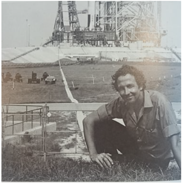 NASA Art Program: Robert Rauschenberg at the grounds of Kennedy Space Center before Apollo 11's launch