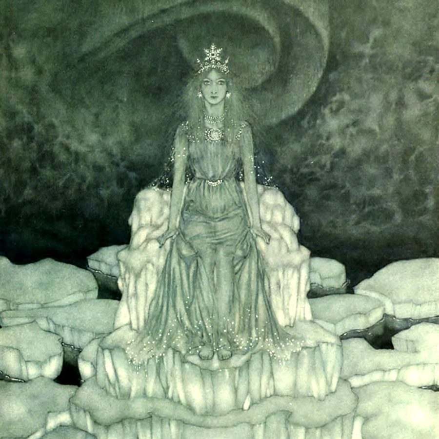 Edmund Dulac, The Snow Queen, illustration for the Snow Queen book, from the Pook Press publishing house.