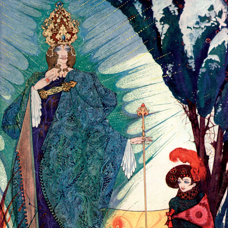 Harry Clarke illustration for the Snow Queen book, from the Pook Press publishing house.