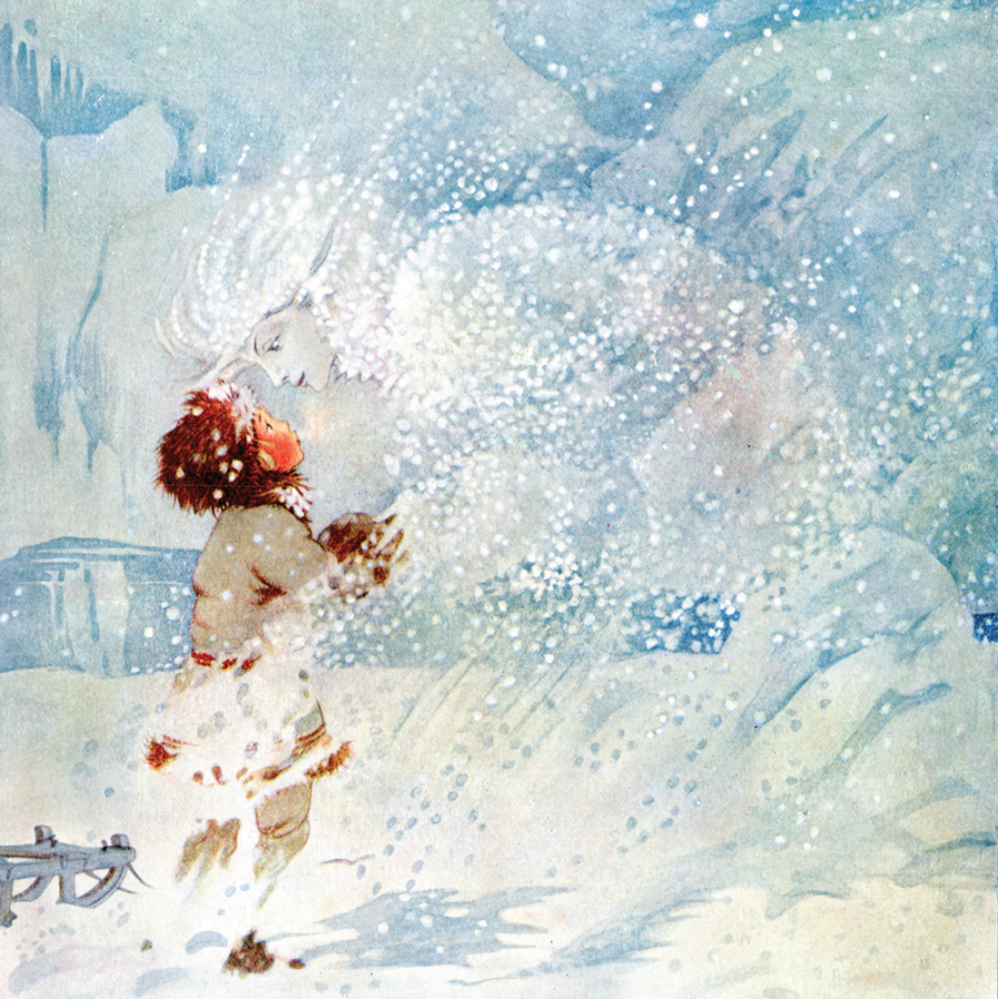 Honor C. Appleton illustration for the Snow Queen book, from the Pook Press publishing house.