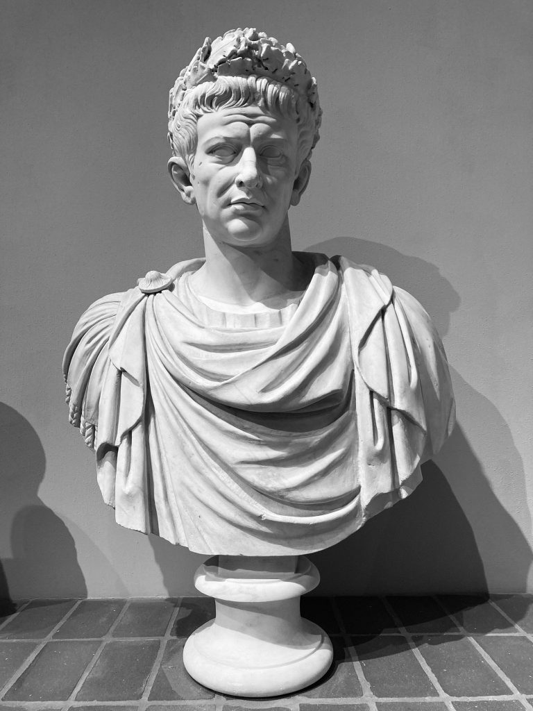 Torlonia Marbles Classical Collection Bust of Emperor Claudius.
