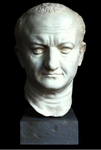 Roman Emperor Vespian Sculpture or Bust showing stern carving