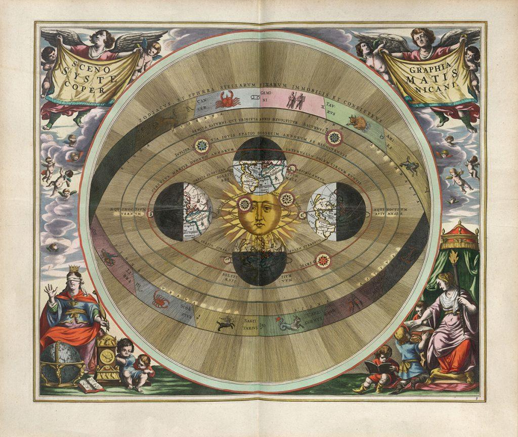 Andreas Cellarius, Harmonia macrocosmica seu atlas universalis et novus, totius universi creati cosmographiam generalem, et novam exhibens, Plate 5, 1661
