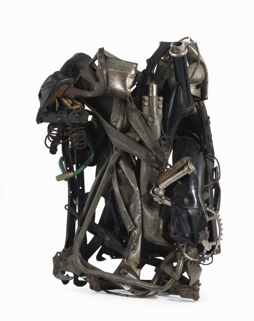 César Baldaccini, Compression de mobilette (Compressed moped), 1970, private collection.