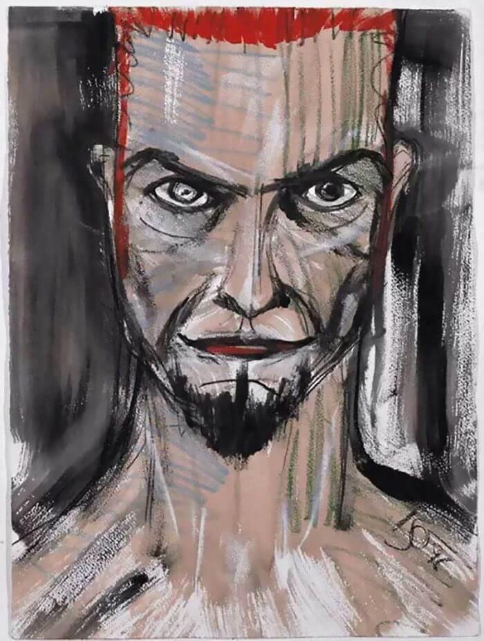 David Bowie, self portrait, 1996, musicians who paint