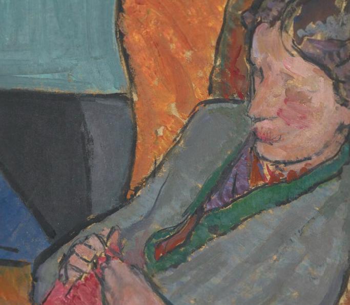 Vanessa Bell, Virginia Woolf, 1912, National Portrait Gallery, London, UK. Detail. npg.org.uk