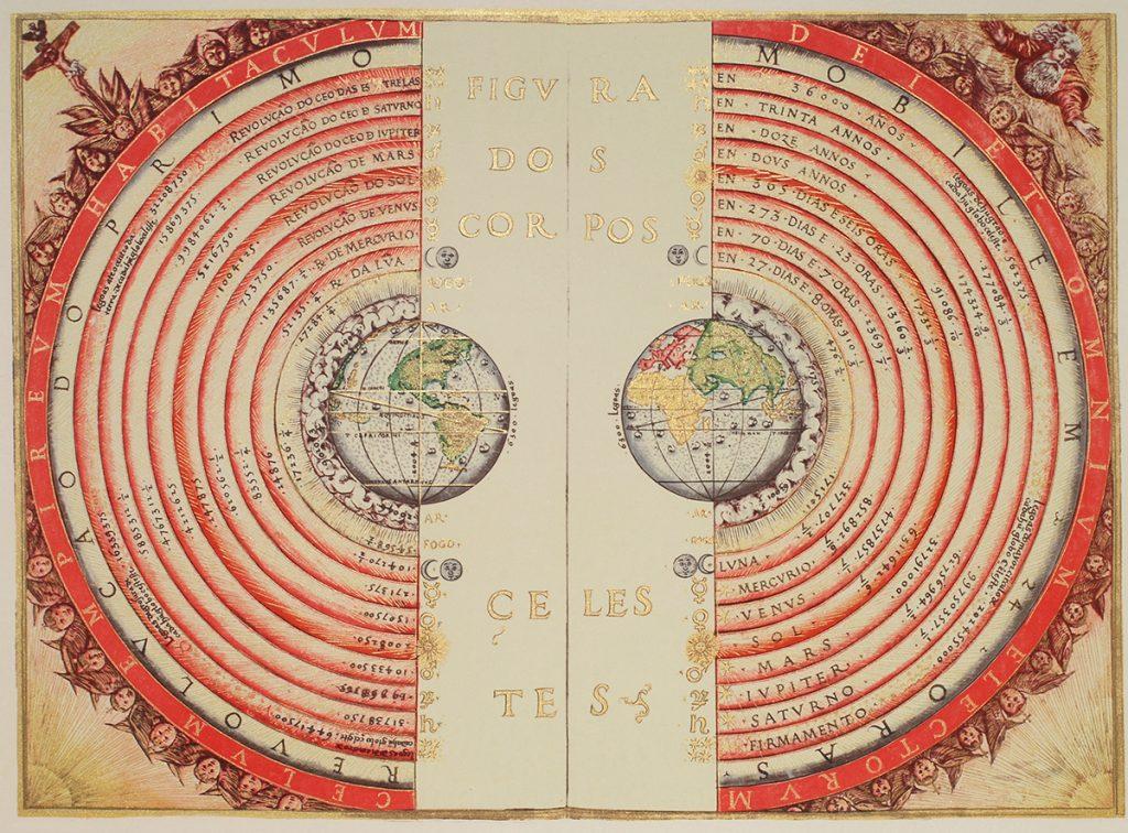 Bartolomeu Velho, Figure of the heavenly bodies from Cosmographia, 1568