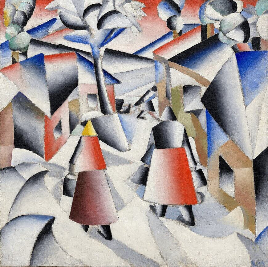 Kazimir Malevich, Morning in the village after snow storm