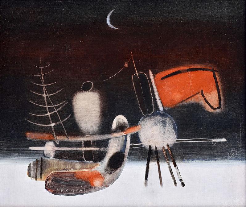 Vladimír Kompánek, The Red horse, 1983, private collection. Source: Soga.
