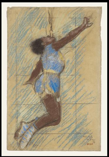 Edgar Degas at the Cirque Fernando, Sketch of Miss La la, The Getty Museum
