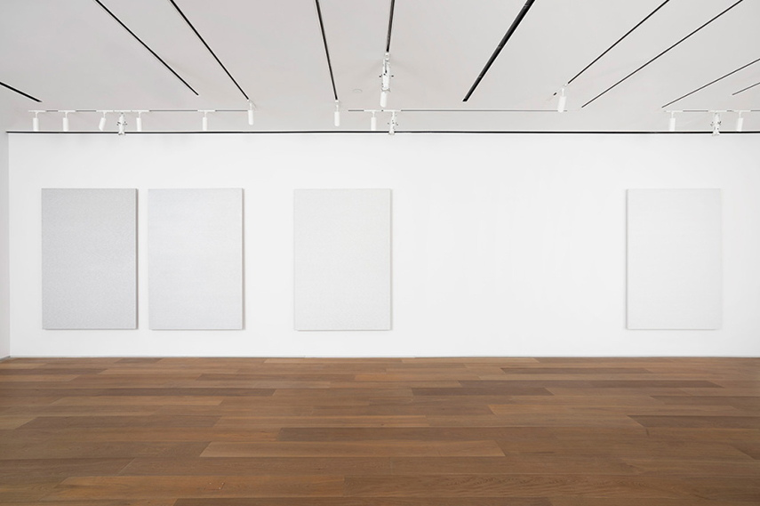 Installation view, Roman Opałka: Painting ∞, Dominique Lévy Gallery, 2008.
