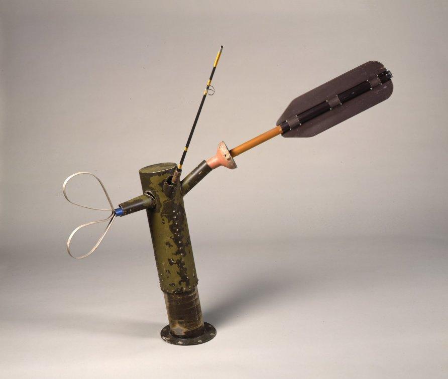 Robert Rauschenberg, Tropic Compass Glut, 1988, assembled aluminum and fiberglass objects. Courtesy of Waddington Custot Galleries.