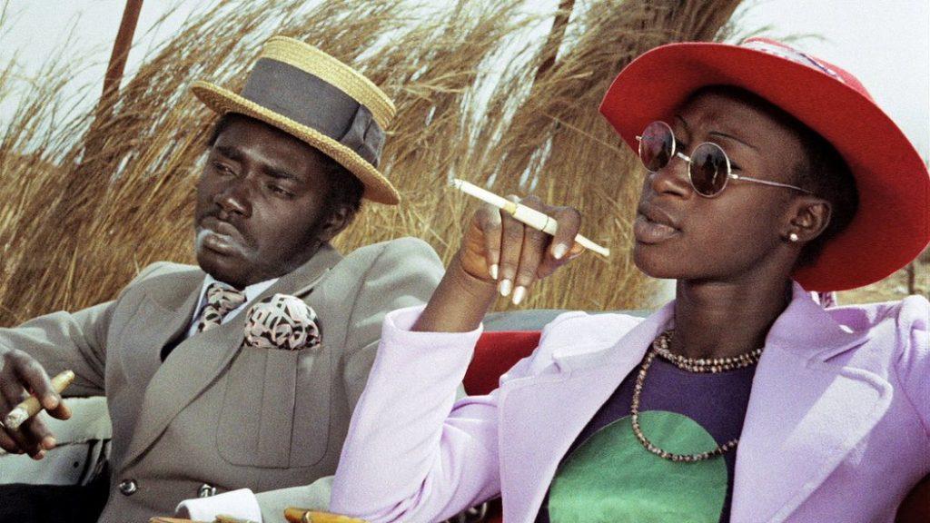 Magaye Niang (Mory) and Mareme Niang (Anta) in Touki Bouki, dir. Djibril Diop Mambéty