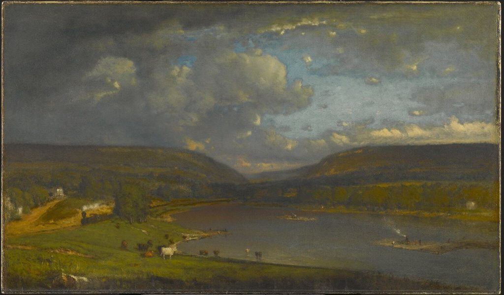 George Inness, On the Delaware River, Brooklyn Museum, Painting of the Delaware River from Pennsylvania border