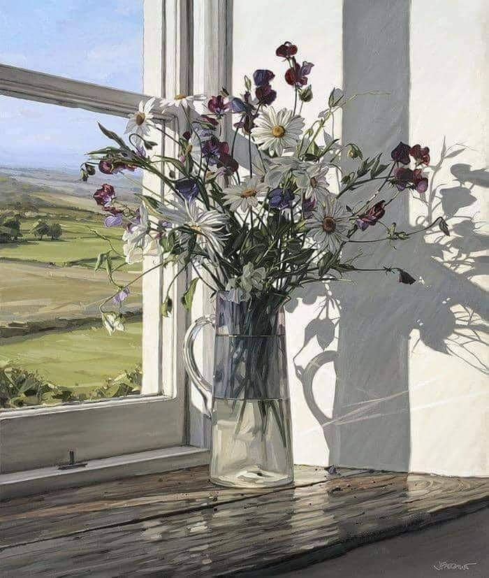 10 Most Artistic Flower Arrangements For Spring. Jim Farrant, Sweet Peas and Daisies, .