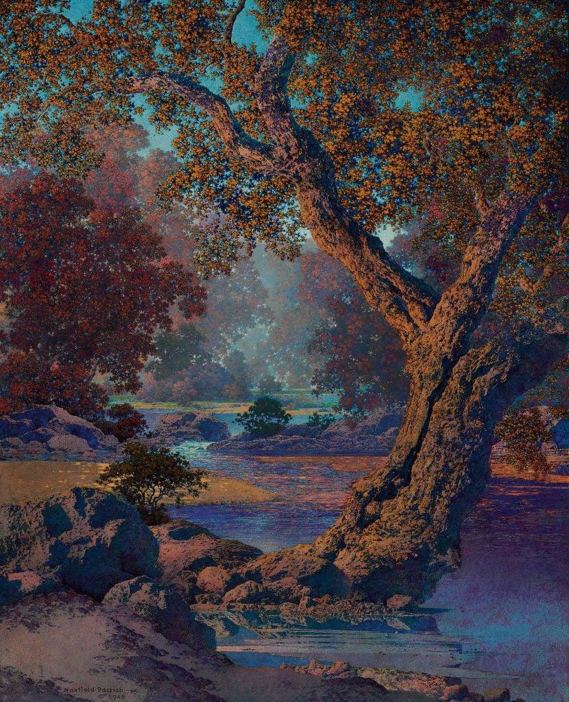 Maxfield Parrish, Autumn Brook, ca. 1948