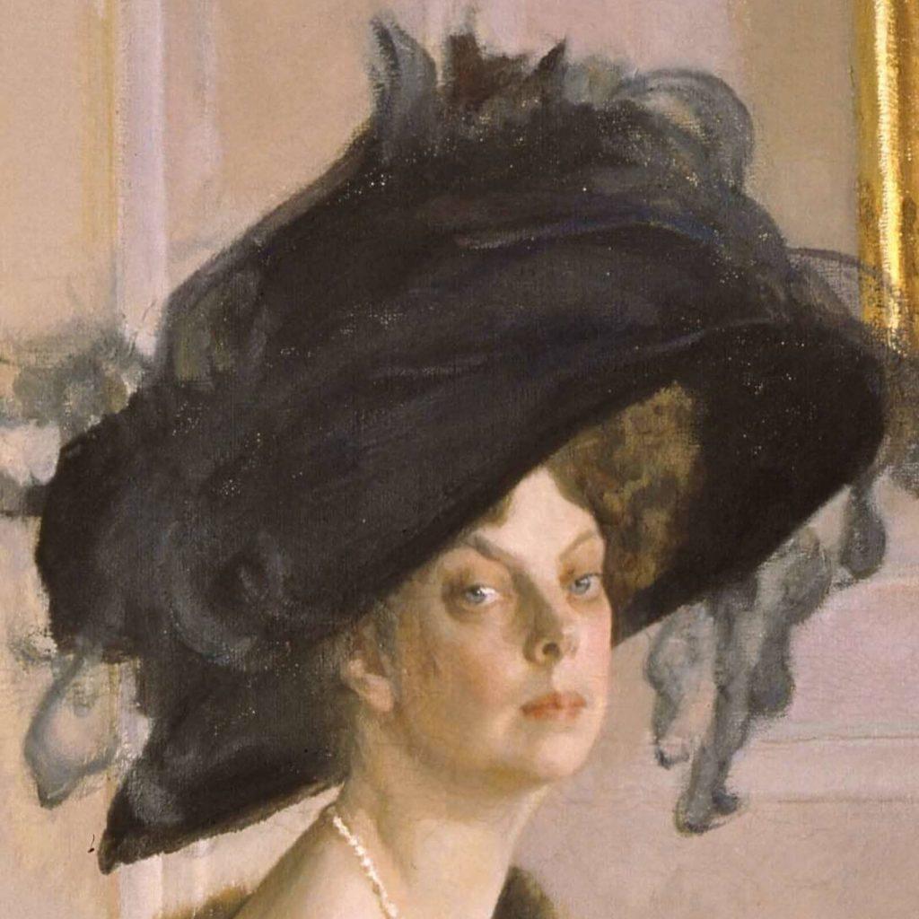 Valentin Serov, Princess Olga Orlova, 1911, State Russian Museum, Saint Petersburg, Russia. Enlarged Detail of Face.