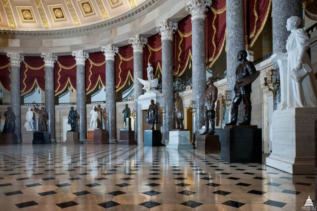 National Statuary Hall, statues in the US Capitol Building, Capitol Building art