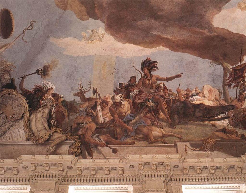 Giambattista Tiepolo, America, 1750-53 (detail) Würzburger Residenz