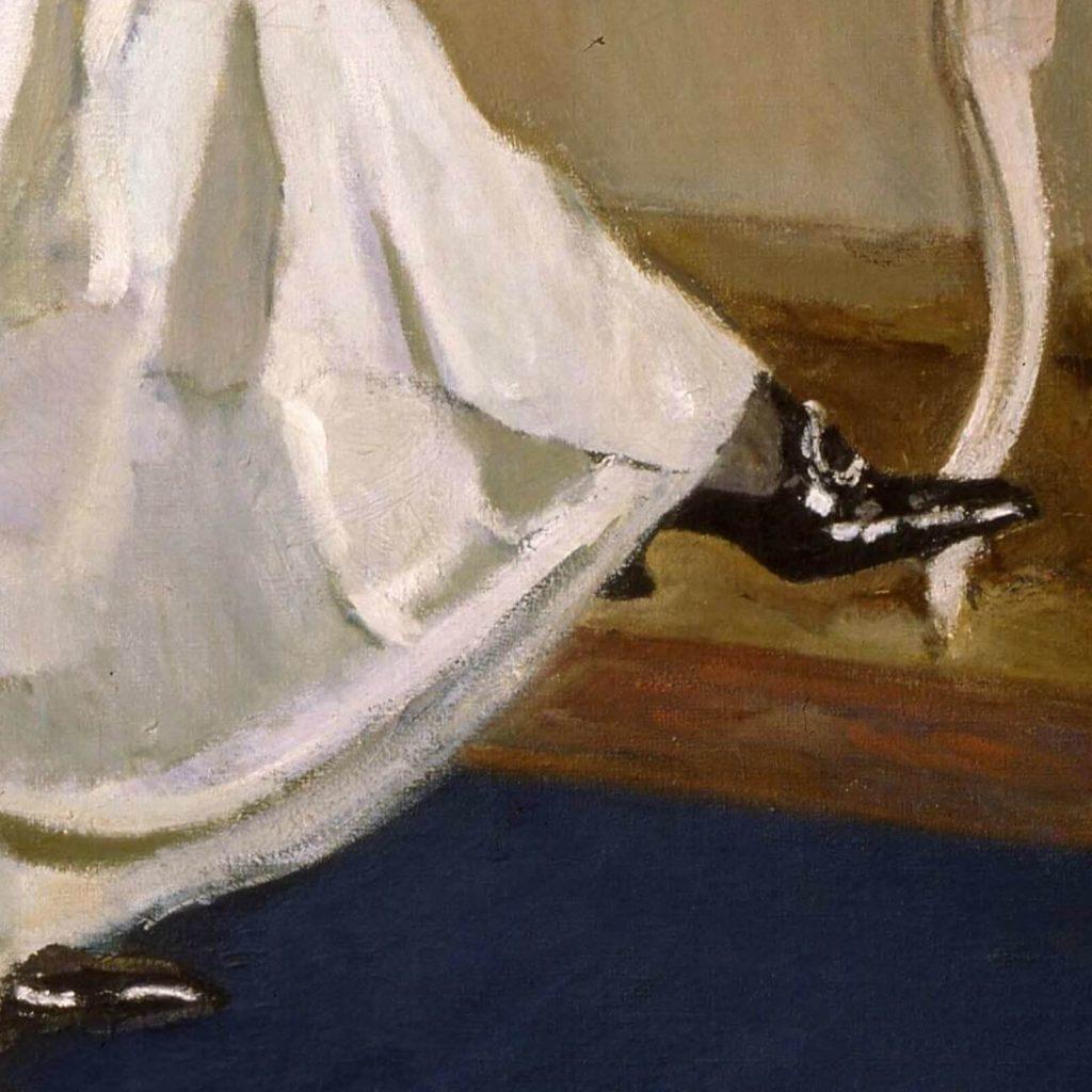 Valentin Serov, Princess Olga Orlova, 1911, State Russian Museum, Saint Petersburg, Russia. Enlarged Detail of Shoe.