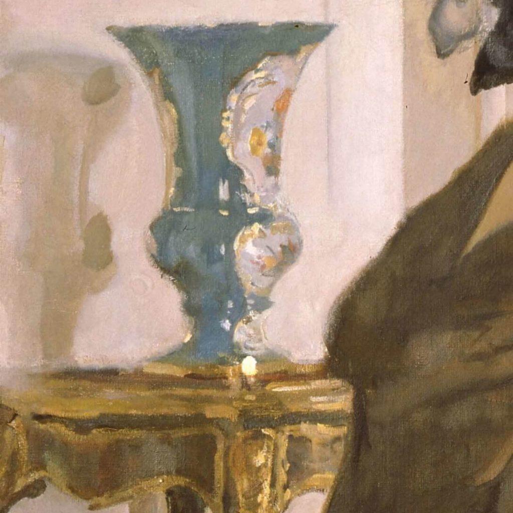 Valentin Serov, Princess Olga Orlova, 1911, State Russian Museum, Saint Petersburg, Russia. Enlarged Detail of Vase.