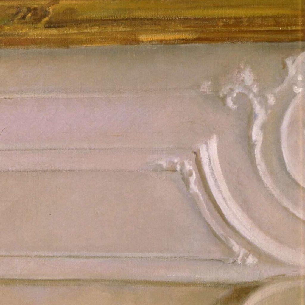 Valentin Serov, Princess Olga Orlova, 1911, State Russian Museum, Saint Petersburg, Russia. Enlarged Detail of Wall Paneling.