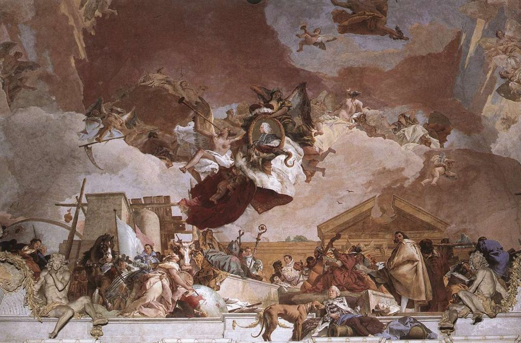 Giambattista Tiepolo, Europe, 1750-53 (detail) Würzburger Residenz The largest ceiling fresco: