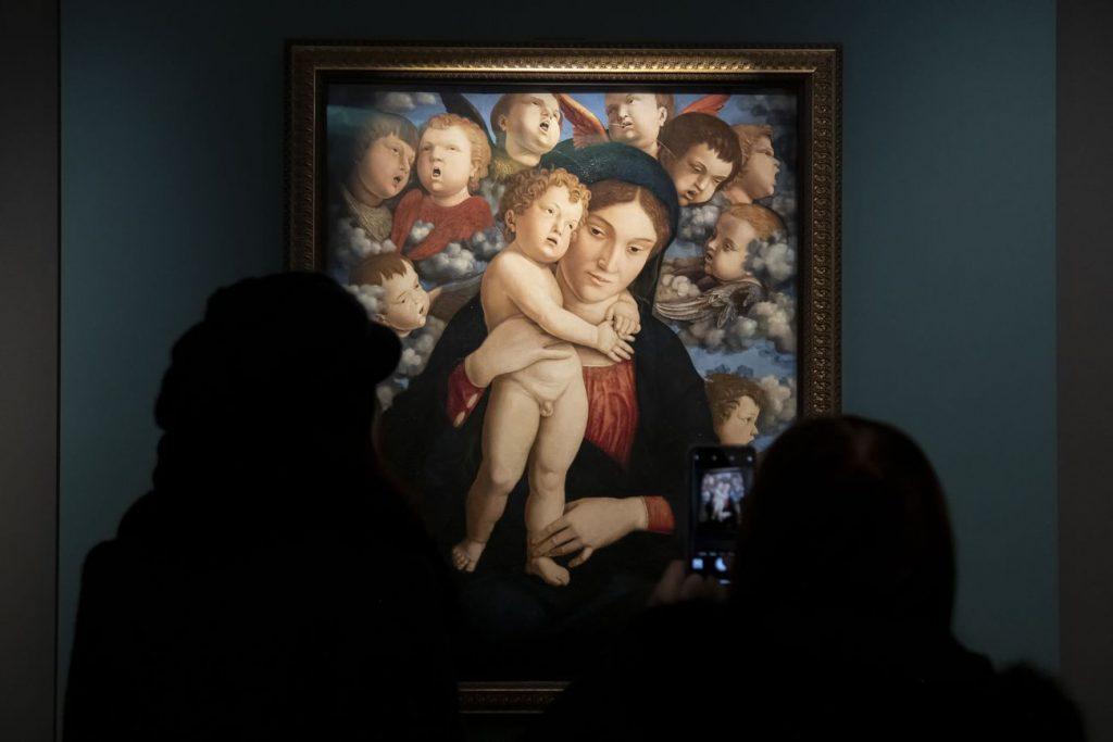 Andrea Mantegna, Madonna with the Cherubim, 1485 c., Pinacoteca di Brera, Milan, Italy.  Photo by Giorgio Perottino