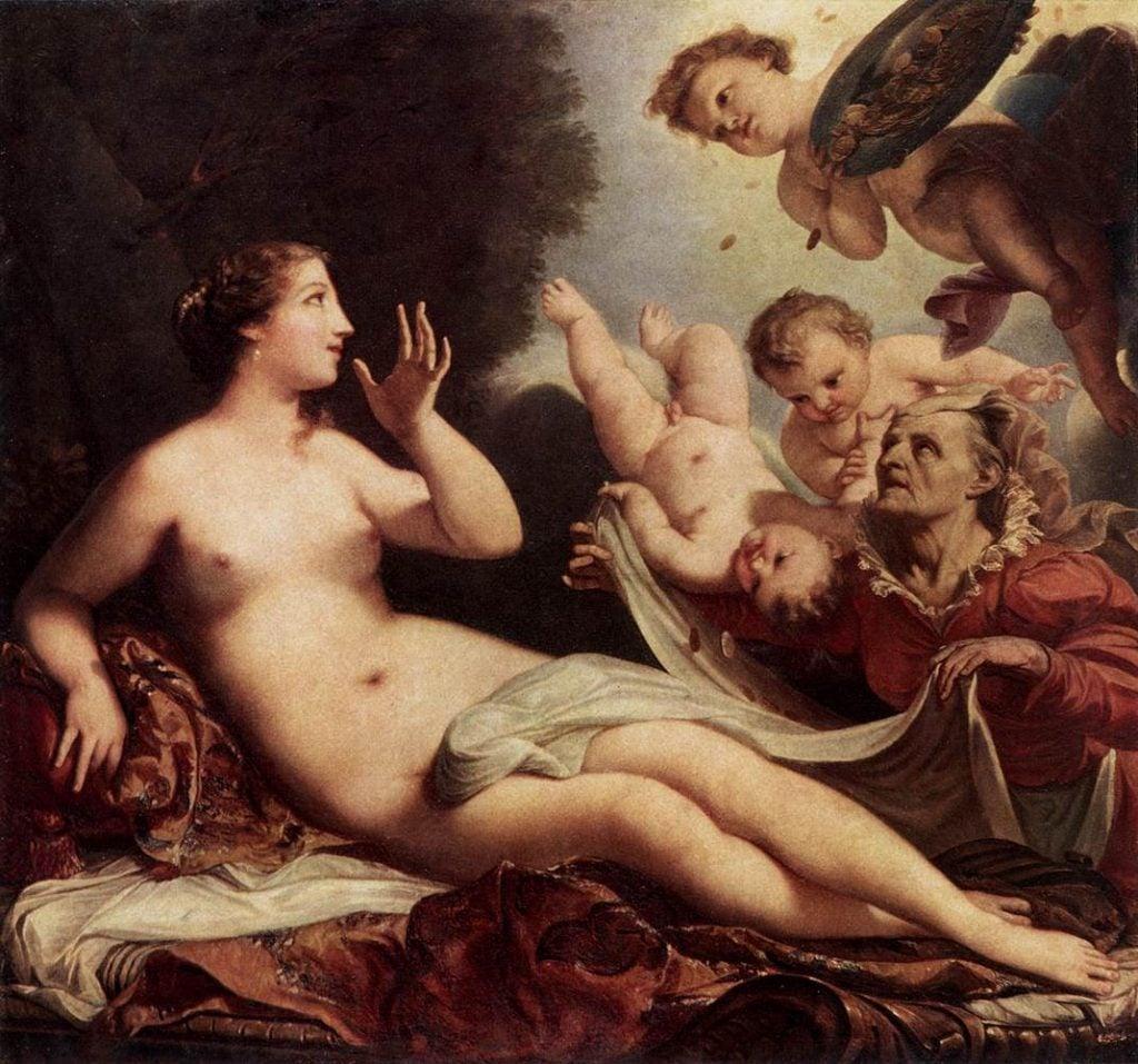 Venetian Rococo: Antonio Bellucci, Danae, Museum of Fine Arts Budapest, Budapest, Hungary, 1700-1705